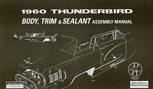 1960 Ford Thunderbird Wiring Diagram Manual Reprint