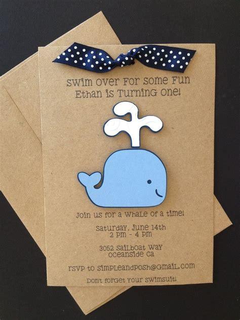 convite diy  cha de bebe whale birthday parties