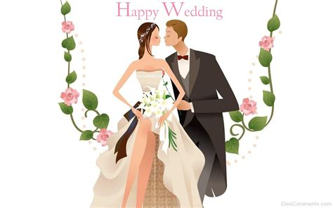 happy wedding couple desicommentscom