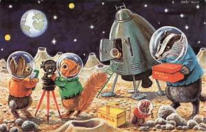 Landing On The Moon by Racey Helps Art