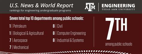 texas  engineering rises  rankings    newest