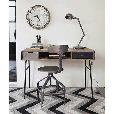 bureau vintage en manguier massif l 115 cm lenox maisons