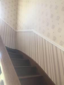 revetement sols et murs archives steve robert peinture With commentaire peindre une cage d escalier 12 renovation dune maison en papier peint steve robert
