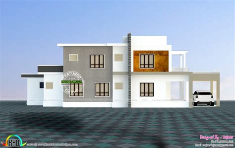 sq ft house  side views kerala home design  floor plans