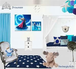 Deco Chambre Fille Princesse : une chambre de princesse blanche et bleue ~ Teatrodelosmanantiales.com Idées de Décoration