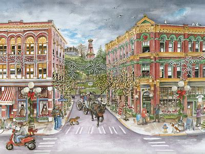 seattle watercolors port townsend limited edition print