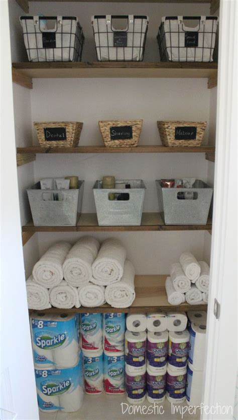 Linen Closet Organization (and The End Of My Pink Walls