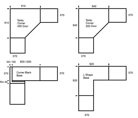 Cupboard Sizes by Kitchen Cabinets Base Sizes Quot Corner Pie Cut Cabinet