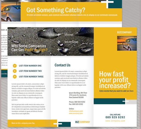 Four Page Brochure Brickhost 3c060785bc37 Brochure Content Layout Corporate Brochure Content Outline