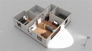 Room   House Building In Cinema 4d