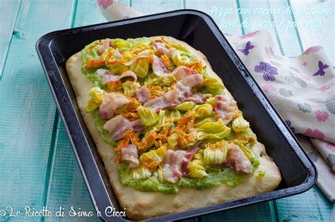 pasta con fiori di zucca e pancetta pizza con crema di zucchine fiori di zucca le ricette di