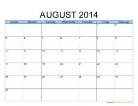 free printable calendar august 2013