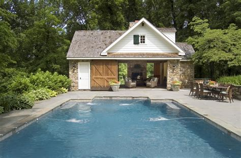 house with pools pool house