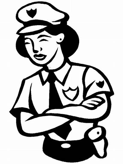 Police Coloring Officer Pages Clipart Polizia Disegni