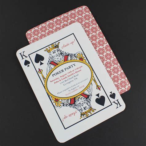 poker night invitation template  print