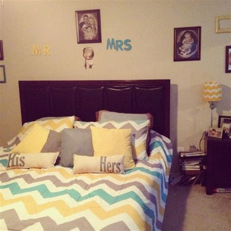 Gray Chevron Curtains Bedroom by Yellow And Gray Bedroom Decor Neutral Meets Cheerful