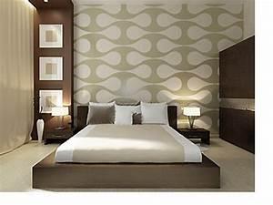 Tapeten Muster Wände : tapeten modern schlafzimmer ~ Markanthonyermac.com Haus und Dekorationen