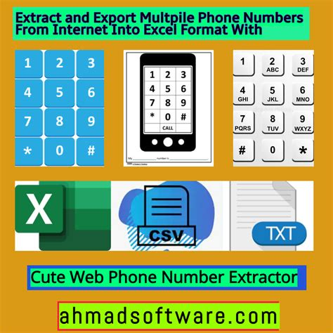 extract  export multiple phone numbers
