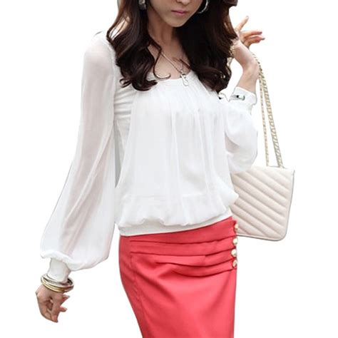 chiffon blouses white chiffon blouse fashionhdpics com