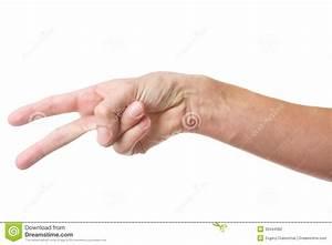 Pfeifen Lernen Ohne Finger : handzeichen mit zwei fingern stockfotografie bild 30444362 ~ Frokenaadalensverden.com Haus und Dekorationen