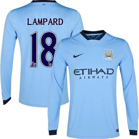 Men's 18 Frank Lampard Manchester City FC Jersey - 14/15 ...