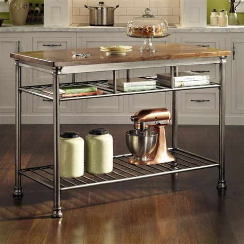 kitchen island shop shop home styles gray industrial prep tables at lowes com