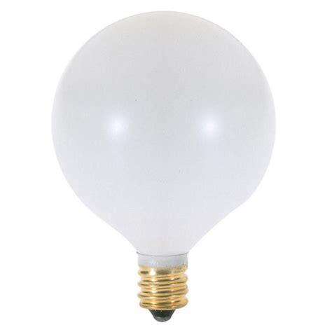 satco s3753 25w globe g16 5 satin white e12 candelabra