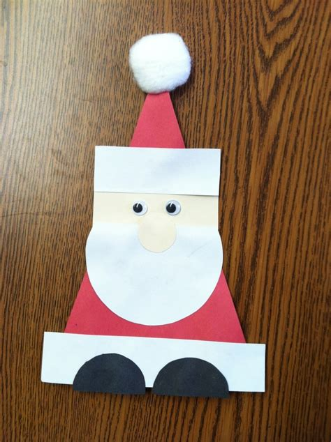 crafts actvities and worksheets for preschool toddler and 912 | Geometric Santa craft