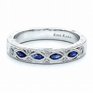 sapphire wedding band with matching engagement ring kirk With sapphire engagement rings with wedding band