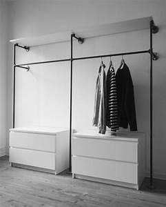 Industrial Design Möbel : offener kleiderschrank kleiderstange garderobe industrial design industriedesign ~ Markanthonyermac.com Haus und Dekorationen