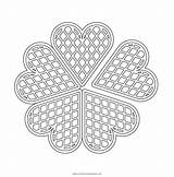 Waffle Coloring Hearts Pages sketch template
