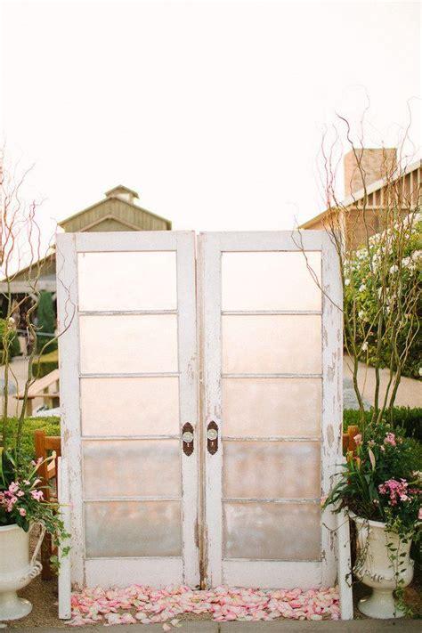 14 Most Beautiful Ceremony Backdrops Using Doors