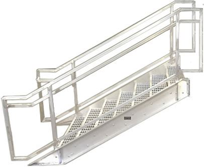 Aluminum Boca Prefab Stairways, Commercial Stair ...