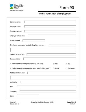 Verbal Verification Of Employment Form - Fill Online, Printable, Fillable, Blank   PDFfiller