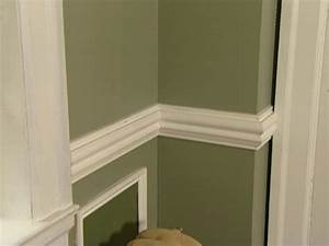how to install a chair rail how tos diy With wall paint ideas with chair rail