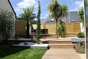 amenagement de jardin terrasse bois terrasse pierres With eclairage exterieur maison contemporaine 13 amenagement exterieur zen contemporain piscine lyon