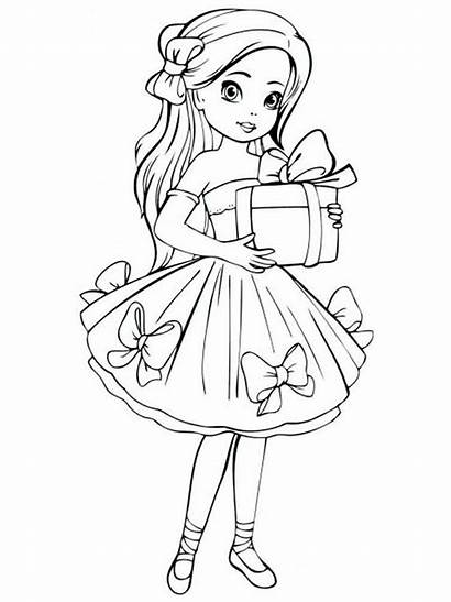Coloring Pages Dolls Doll Printable Recommended