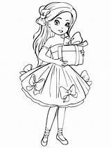 Coloring Pages Dolls Doll Printable Colors Recommended sketch template