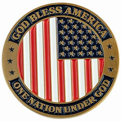 Coin God Bless Patriotic America Usa Challenge