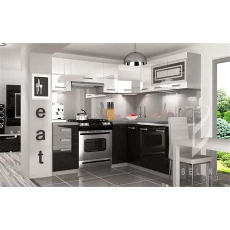 cuisine equipee complete justhome lidja l pro led l cuisine équipée complète 190x170 cm couleur laqué haute