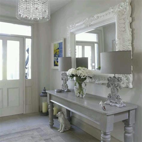 entryway table mirror like it a less froofy