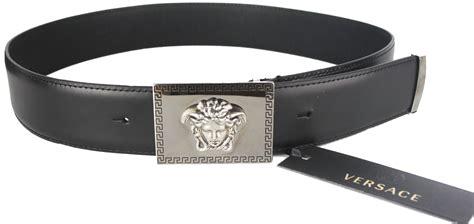 New$ Versace Beautiful Medusa Engraved Buckle Black
