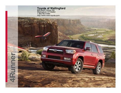 Toyota Of Wallingford Ct by 2012 Toyota 4runner For Sale Ct Toyota Dealer Serving