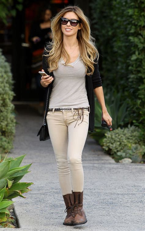Audrina Patridge Street Style Leaving Andy Lecompte
