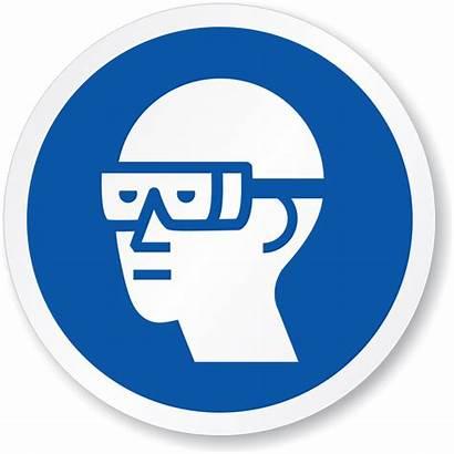 Safety Goggles Signs Wear Quiz Circle Symbol