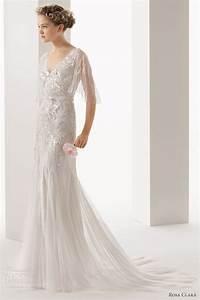 Soft by rosa clara 2014 wedding dresses wedding inspirasi for Flutter sleeve wedding dress