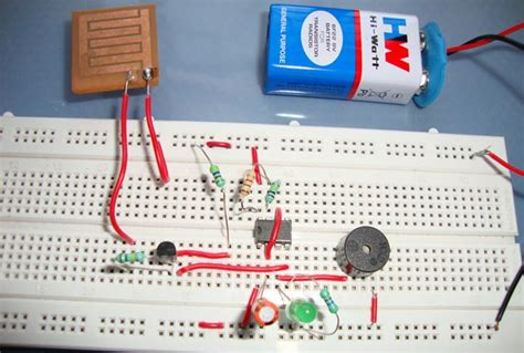 rain alarm project  circuit diagram   timer ic