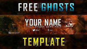 Youtube Banner Art Template Free Cod Ghosts Banner Template Youtube