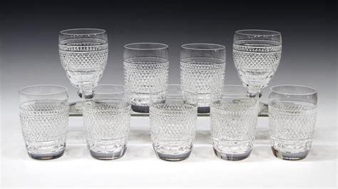 (9) Waterford Cut Crystal 'cashel' Barware