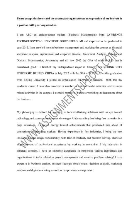 job application coverletter sample  assignmentsupport